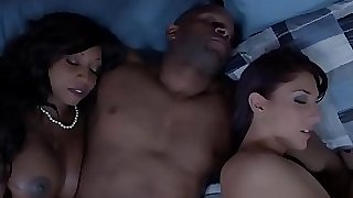 Ebony housewife and friend cum interchanging