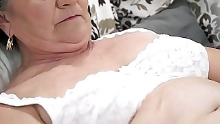 Old fur covered pussy filled with youthful cock
